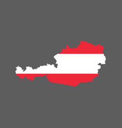 austria outline and flag vector image vector image