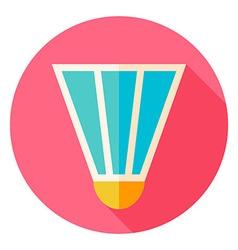 Badminton Shuttlecock Circle Icon vector image