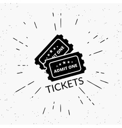 Retro grunge of two black tickets vector image
