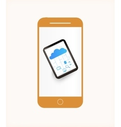 Smartphone mobile phone isolated vector image vector image