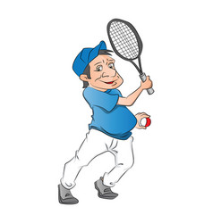 tennis player on white vector image