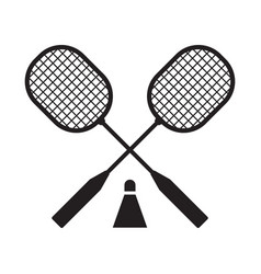 badminton rackets and volant vector image vector image