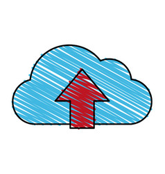 cloud data vector image