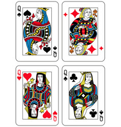 four queens french inspiration vector image vector image