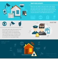 Home security banner set vector image vector image