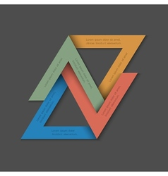 Minimalistic background with paper triangles vector image vector image