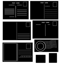 Postcards set vector image