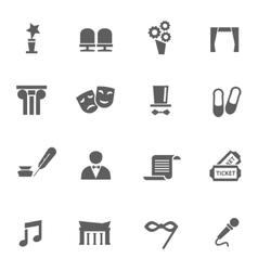 Set of theatre icons vector image