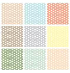 Vintage seamless polka dot patterns set vector image
