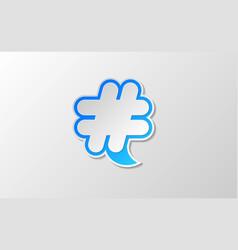 white hashtag twitter icon vector image