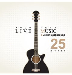 acoustic guitar on a bei vector image