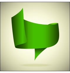 banner for the text green front vector image vector image