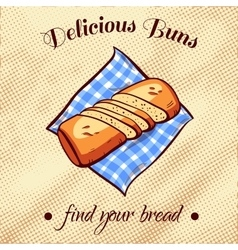 Bread On A Napkin 17 vector image