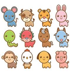 Chinese Zodiac animal vector image