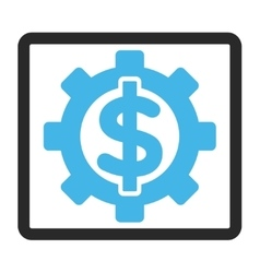 Financial Options Framed Icon vector image