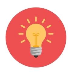 Lightbulb flat icon vector image vector image