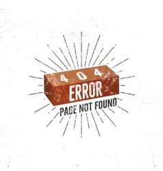 404 error page with brick concept of 404 vector