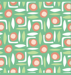 abstract shapes seamless retro pattern vector image