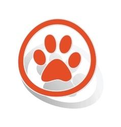 Animal sign sticker orange vector