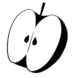 Apple Cut Icon vector