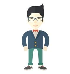 Asian Businessman standing vector