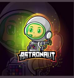 Astronaut mascot esport logo design vector