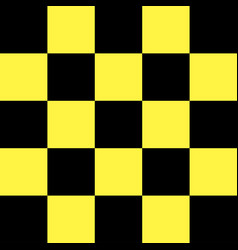 Black and yellow checkered background vector