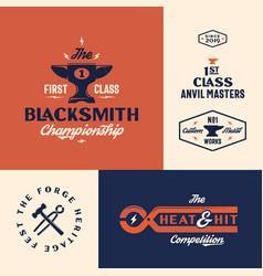 blacksmith championship abstract vintage vector image
