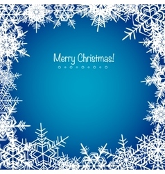 Blue frosty Christmas snowflakes background vector