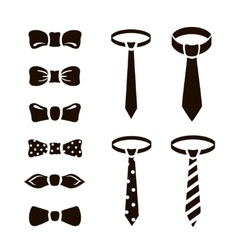 Bow ties icon set on white background vector