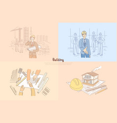 building industry construction site vector image