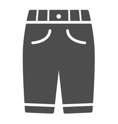 Capri solid icon clothes concept man sport pants vector