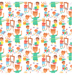 children playing different types home vector image