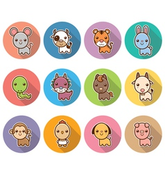 Chinese Zodiac animal vector image