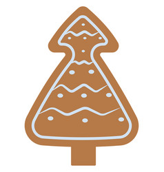 christmas cookie on white background vector image