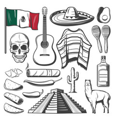 Cinco de mayo mexican holiday fiesta party sketch vector