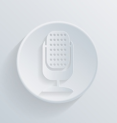 circle icon with a shadow microphone vector image