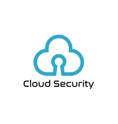 cloud security logo design symbol template vector image