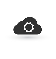 cloud storage settings linear icon web hosting vector image