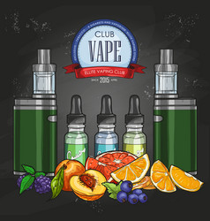 Color sketch vaporizer cigarette vector