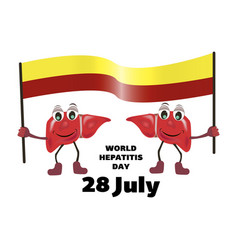 concept for world hepatitis day vector image
