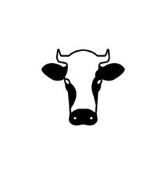 cow icon black on white vector image