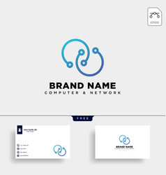 digital infinity network logo template icon vector image