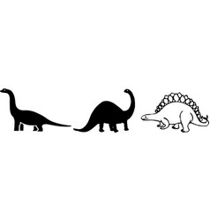 Dinosaur on color background vector