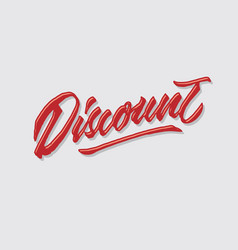 discount hand lettering typography vector image