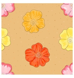 Dog rose seamless vector