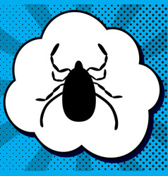 dust mite sign black icon in vector image