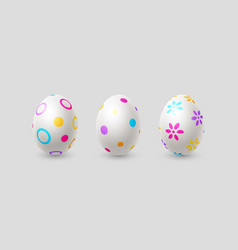 easter eggs in realistic 3d style vector image