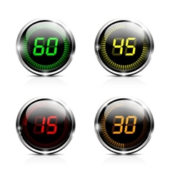 Electronic brilliant countdown timers vector image