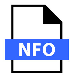 File name extension nfo type vector